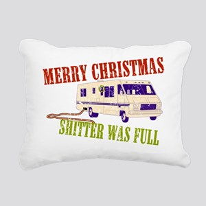 Shitter Was Full Rectangular Canvas Pillow